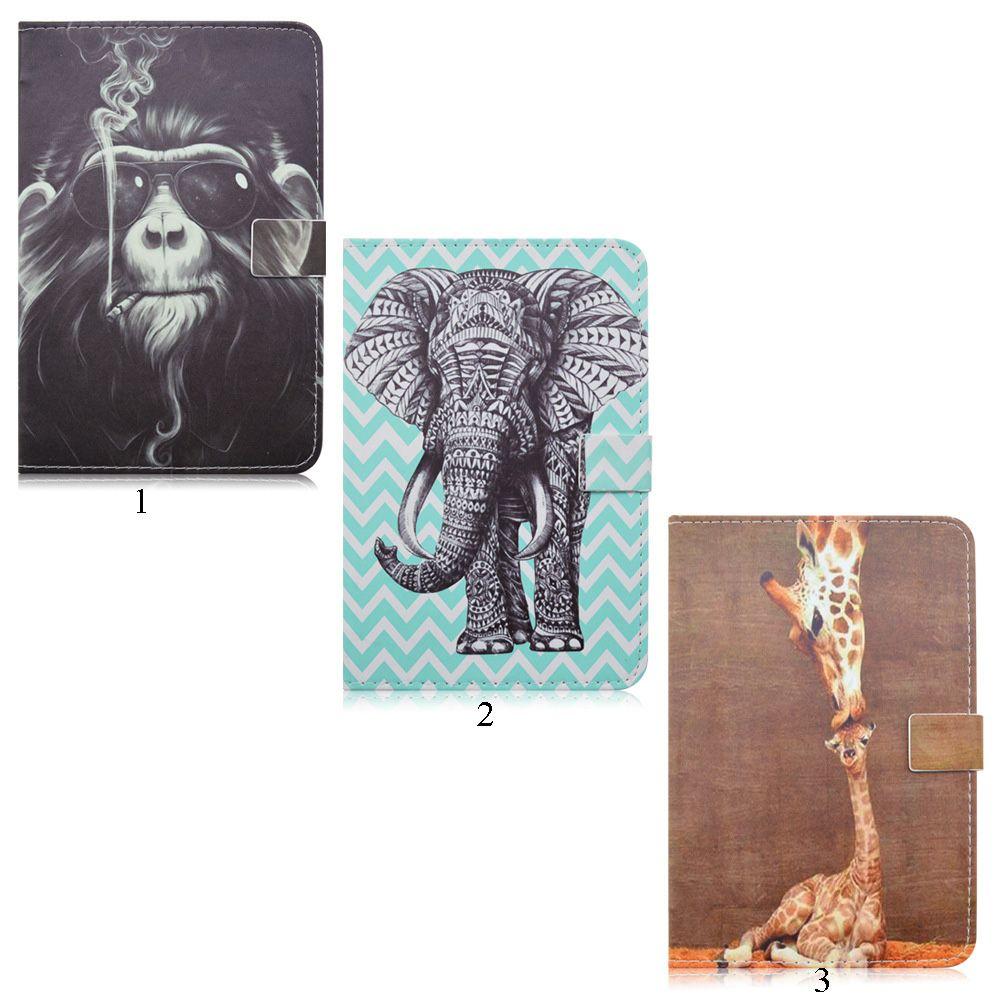 detailed look b343b bd841 Elephant Giraffe Orangutan Pattern Animal Prints For iPad MINI4 Stand Case  PU Leather Case