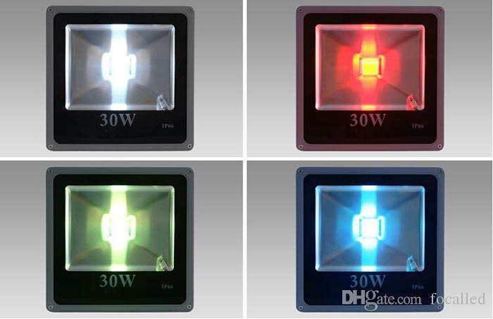 رقيقة جدا RGB 10W 20W 30W 50W LED الأضواء الكاشفة للماء IP66 LED ضوء في الهواء الطلق ضوء الفيضانات الجدار مصباح 90-260v AC / DC 12V CE SAA UL