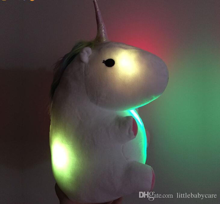 48375909829c LED Grow Lighting Rainbow Unicorn Plush Toy Cartoon Unicorn Indoor ...