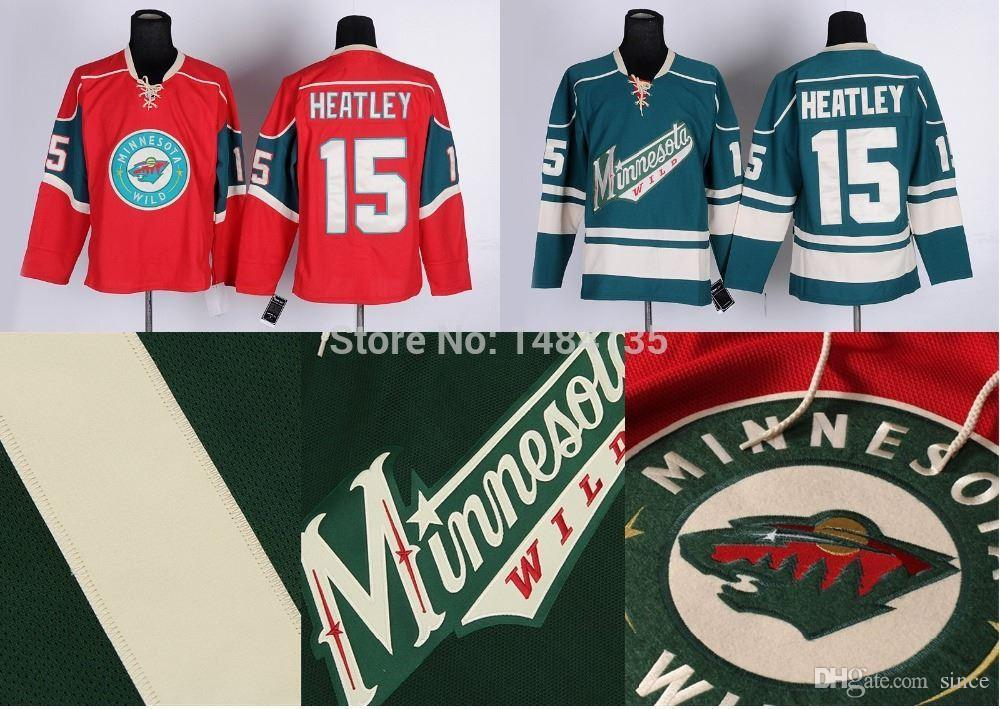 the best attitude c3bd8 be816 nhl jerseys minnesota wild 15 dany heatley red jerseys with ...