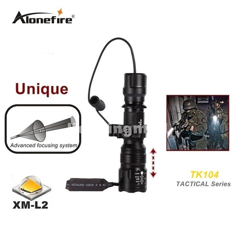 TK104 L2 LED Tactical Gun Flashlight 2200LM 5 mode Pistol Handgun Torch Light Lamp Taschenlampe+gun scope mount+remote switch