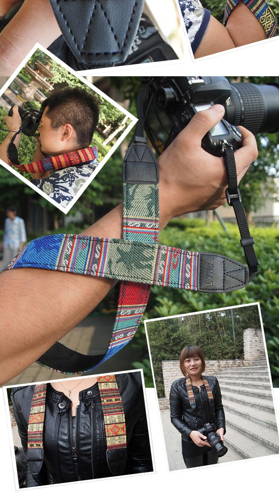 Colorful Vintage Style Canvas Camera Shoulder Neck Strap Belt for Nikon Canon Sony DSLR Camera