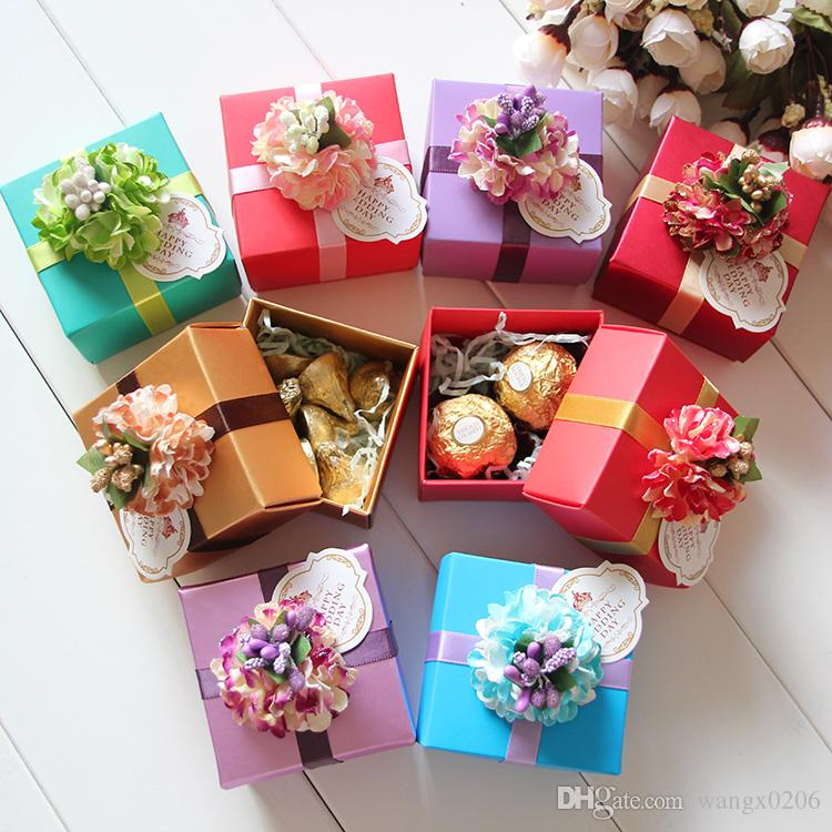 Small Gold Favor Boxes 5 5 5cm Small Carton Creative Gift Box