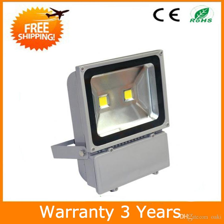 100W LED Floodlight LED Flood Light Outdoor COB Lighting Waterproof IP65 12PCS 3 Years Warranty Super Bright Thick Housing