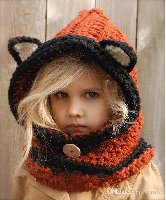 2018 2015 2016 New Design Fox Ear Winter Windproof Baby Hats And ...