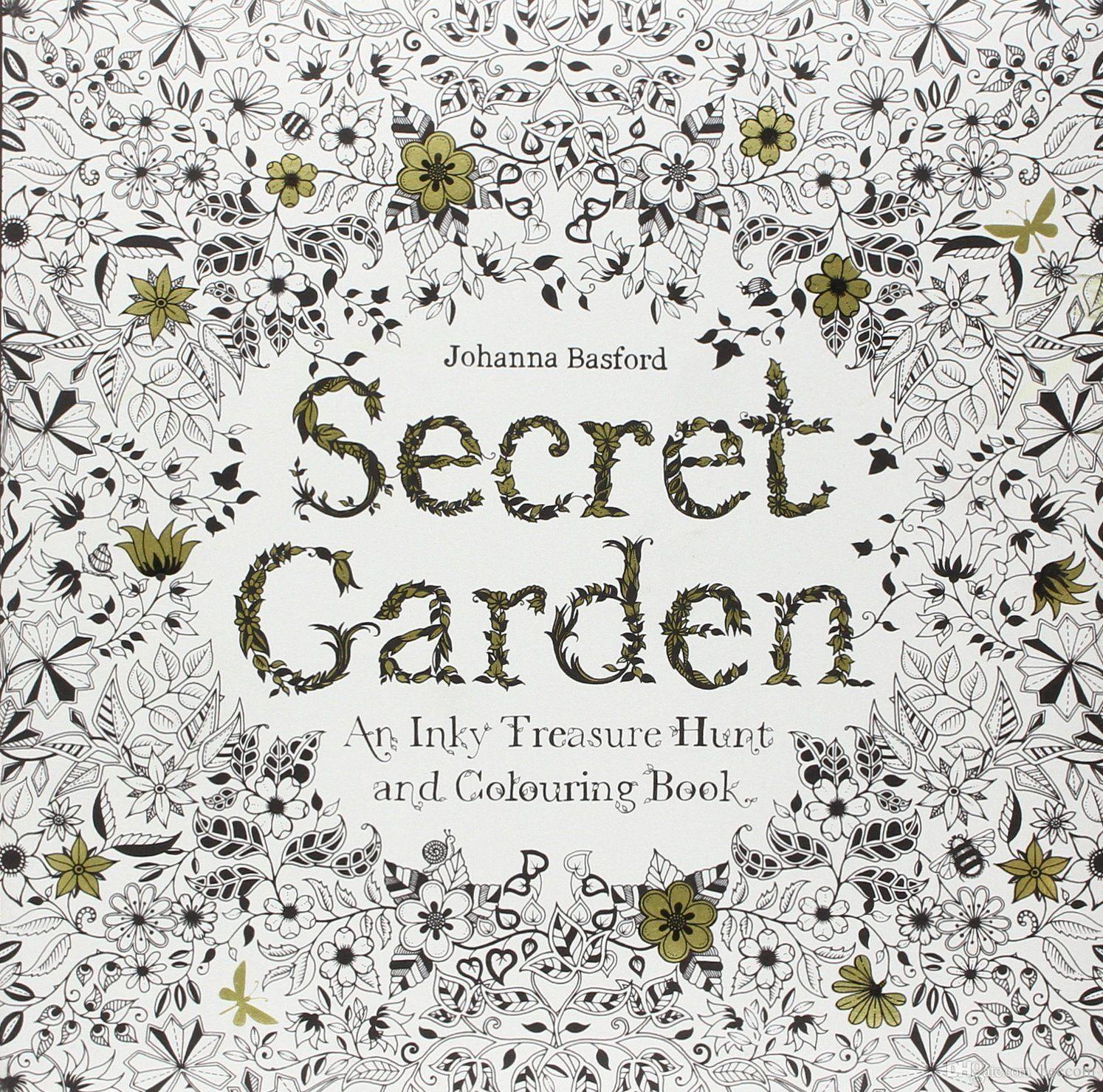 Secret Garden Coloring Book By Johanna Basford Reduce Pressure Books Painting Drawing Printable Pages For Adults Copy Colouring