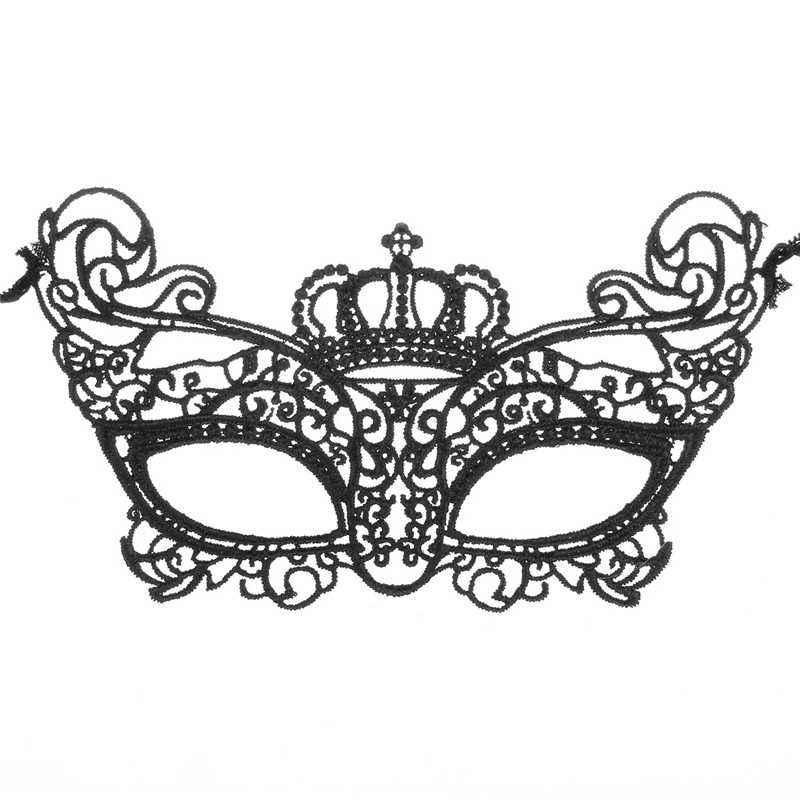 Halloween Masquerade Mask Women Lovely Lace Crown Half