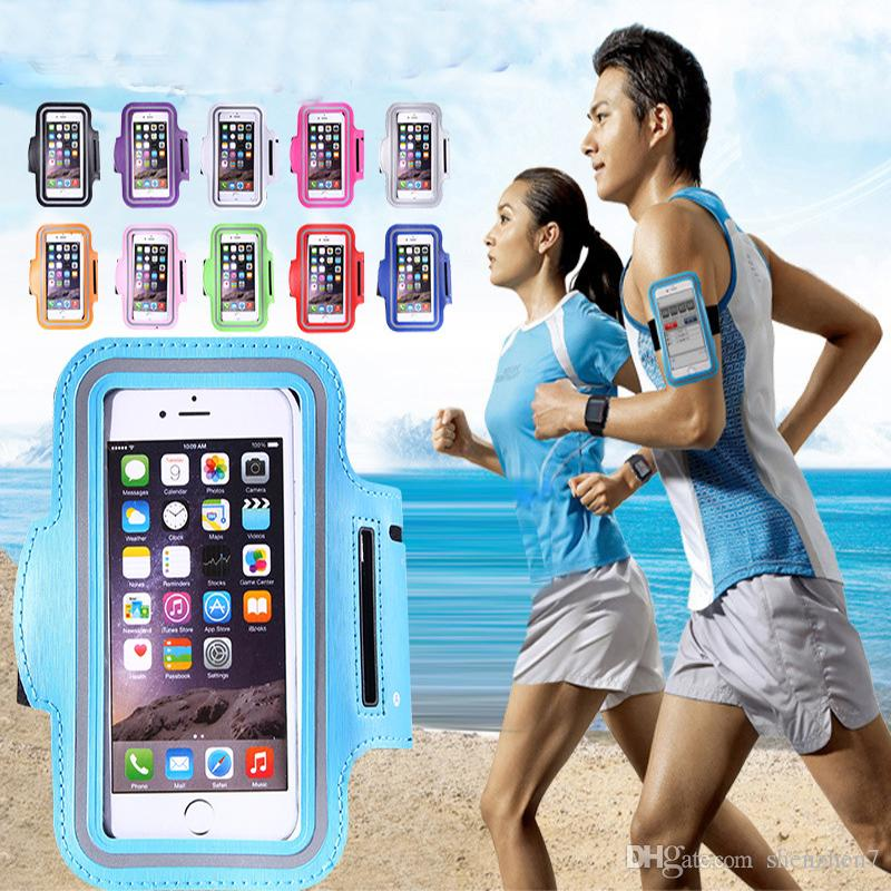 For Iphone X Waterproof Sports Running Armband Case Workout Armband Holder Pounch Cell Mobile Phone Arm Bag Band DHL free SCA357