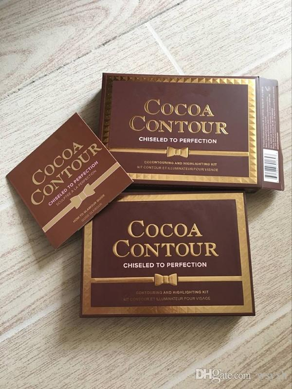 New Makeup COCOA Contour Kit Bronzers Highlighters Powder Palette Nude Color Shimmer Stick Cosmetics Chocolate Eyeshadow with Brush