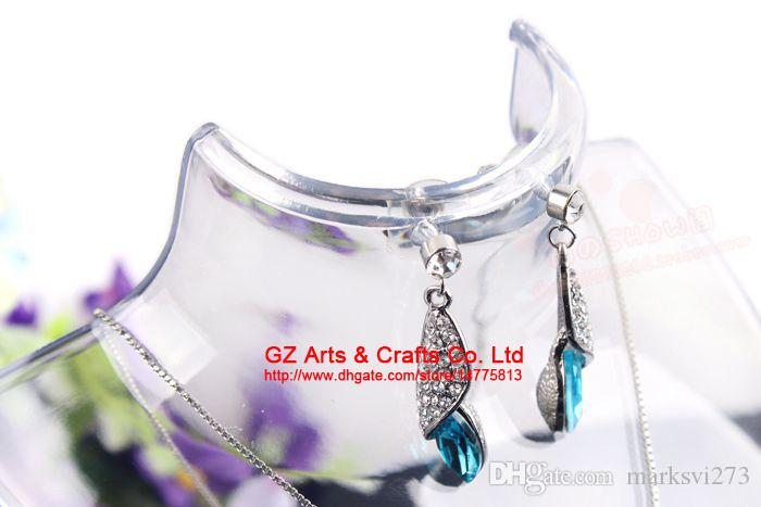Earring Necklace Jewelry Set Neck Model Cheap Resin Acrylic Jewelry Display Stand Mannequin Plastic Pendant Holder Rack