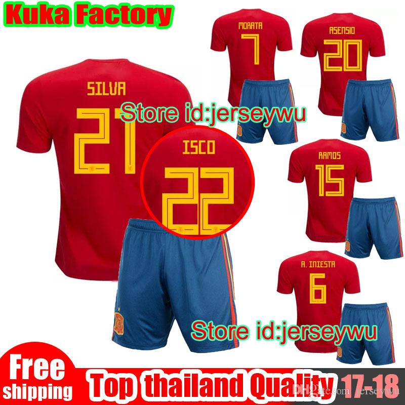 9ee20807d andres iniesta spain home jersey 2018 hooded blanket fifa world cup  2018  spain world cup soccer jerseys kits ramos isco pique sergio a. iniesta m.