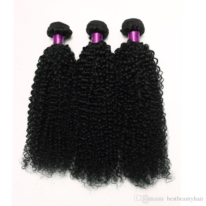 Brazilian Curly Hair Bundles Hair Wefts 3 Bundles Natural Black 6A Brazilian Human Hair Curly Virgin Brazilian Extensions Pack On Sale