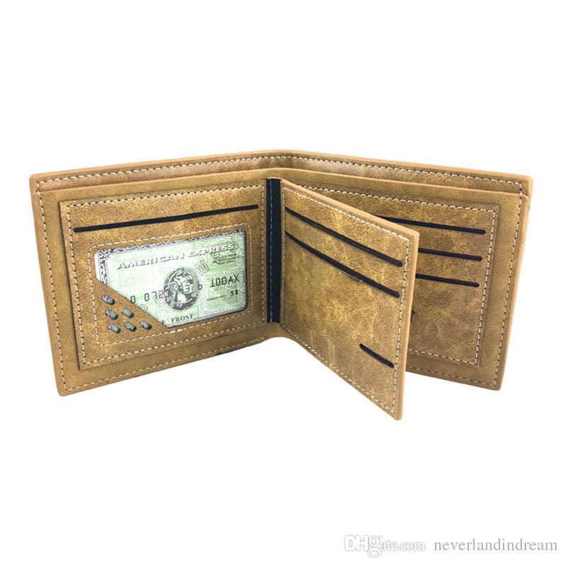 Anime NARUTO Shippuden Short Wallet Naruto Konoha High Quality Sharingan PU Leather Card Holder Purse for Gift Money Bag