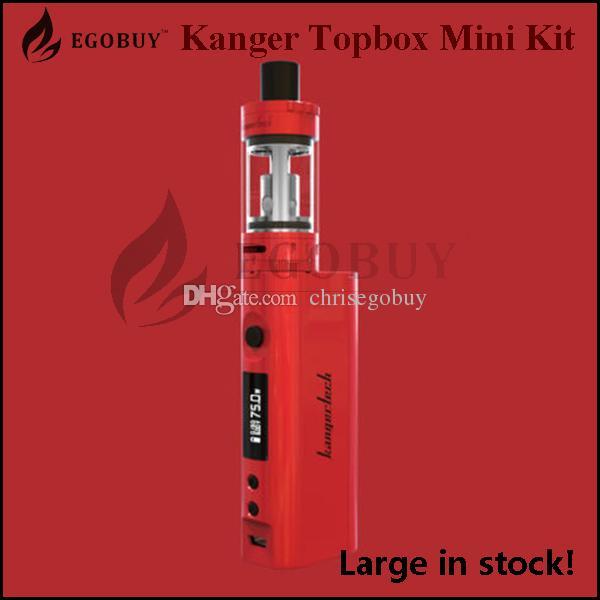 100% Original Kangertech Topbox mini kit Kanger Subox Mini Pro TC 75w KBox starter kit temp-Control Box Sub Mods SSOCC clapton Toptank Mini