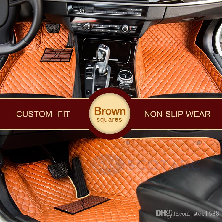 SCOTABC Custom Fit Car Foot Pad All Weather Leather Car Floor Mats for Infiiniti FX35 Waterproof Anti-slip 3D Front & Rear Carpets