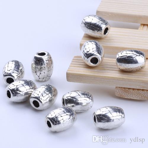 Новая мода серебро / медь ретро Макропористые бусины производство DIY ювелирные изделия кулон fit ожерелье или браслеты Шарм 250 шт. / лот 2235 c