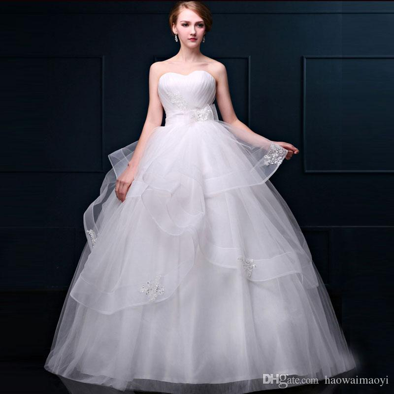 Fashion Simple Wedding Gowns Plus Size Wedding Dresses