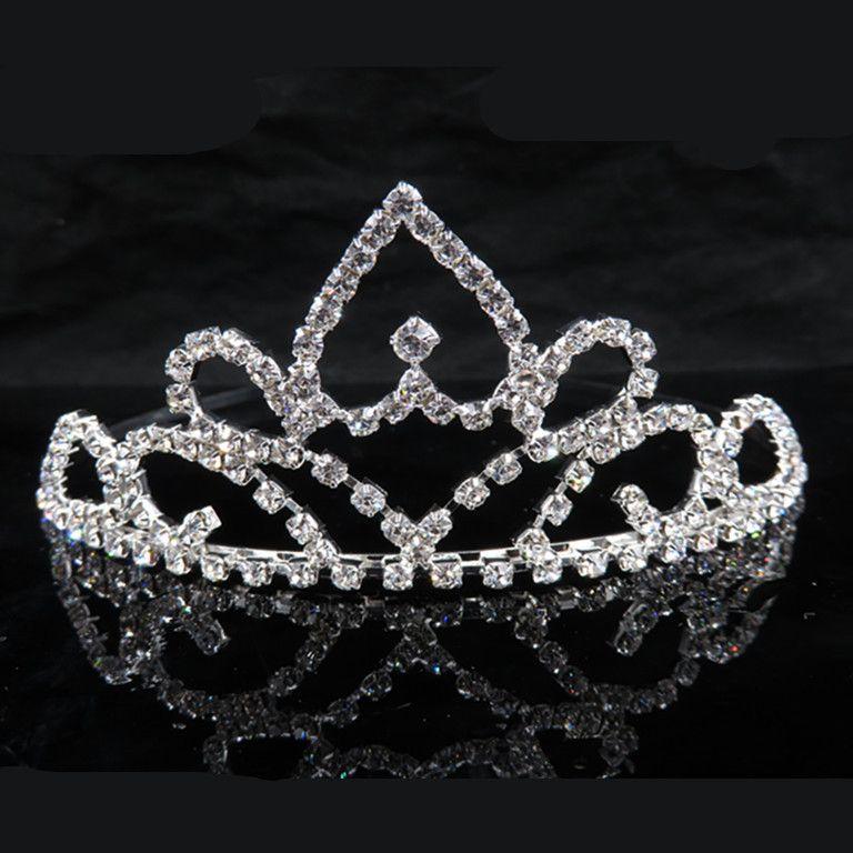 Trasporto libero di alta qualità Tiara Crown Victorian Wedding Bridal Prom Pageant argento strass Crystal Hairband Jewelry