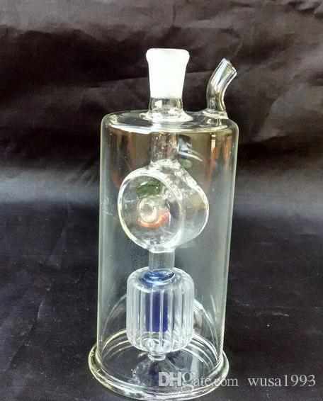 Wholesale 2015 new inner filter glass hookah windmill / glass bong, gift accessories straw, pot roast
