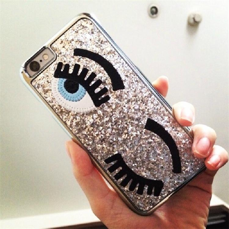 best authentic 6ce4f bb396 Case For iphone 5 5S/6/6 plus Flirting Eyes Brilliant Miss Gossip Chiara  Ferragni 3D Hard Cover Cases phone shell