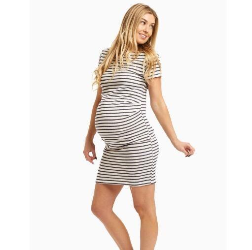 d61715c67deb73 2017 Frauen Kleidung Phantasie Mutterschaft Kleidung Mutterschaft Swing  Rock mit großen Tasche Großhandel Freizeit tragen Home Kleid