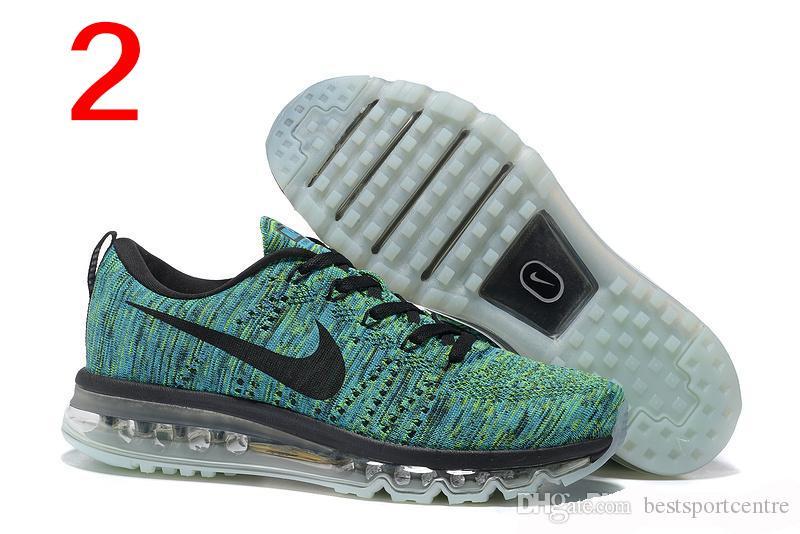 Großhandel Nike Flyknit Air Max 2015 Frauen Der Männer Laufende Schuhe, 100% Ursprüngliche Maxes Männer Und Frauen Laufschuhe Flyknit AirMax Schuhe