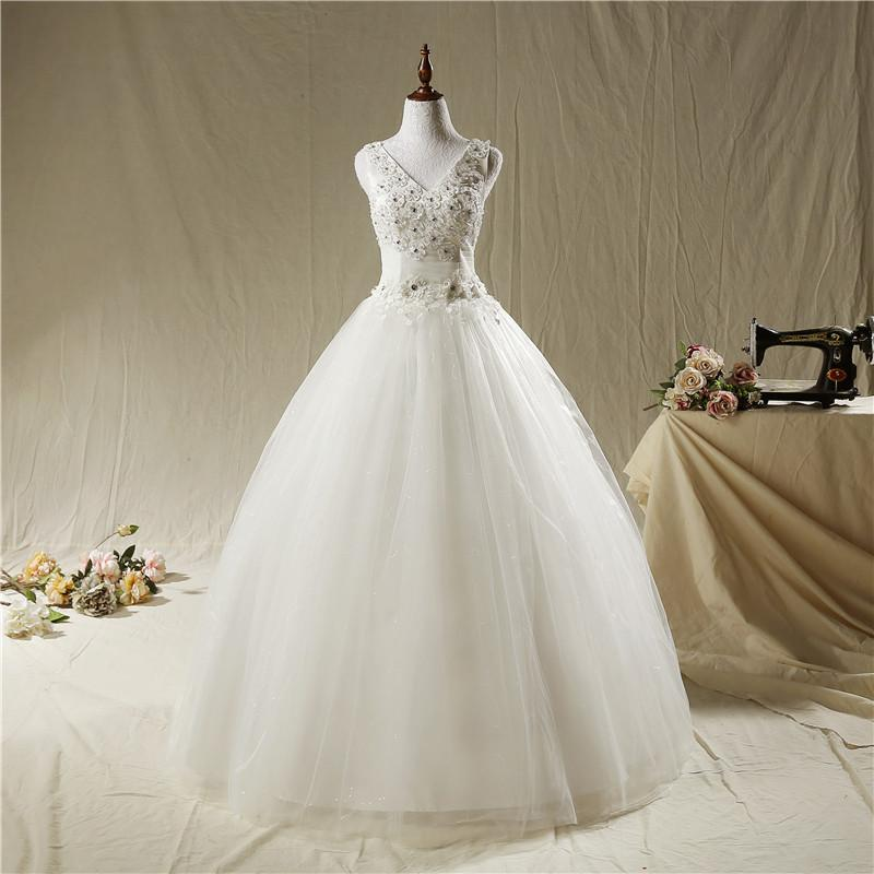 Dh803 Fansmile Korean Lace Up Ball Gown Quality Wedding Dresses ...