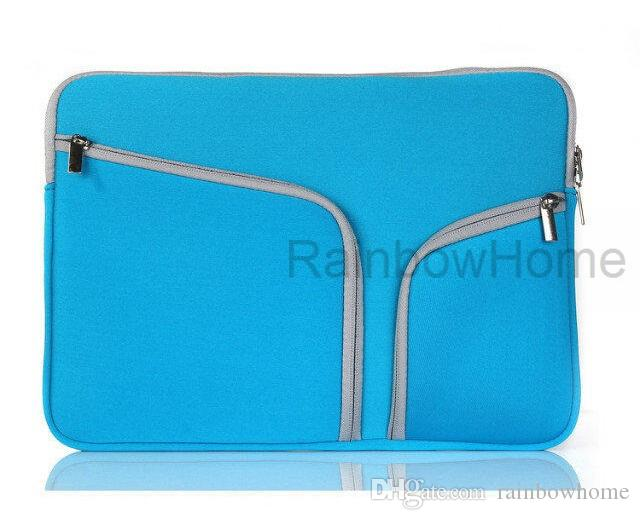 Slim Laptop Protective Case Zipper Bag Sleeve Pouch Handbag For Macbook Air Pro Retina 12 13 15 inch Storage Bag Travelling Bags Durable