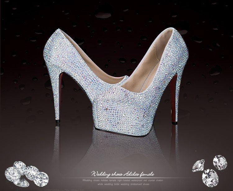 ¡Envío gratis! Joyas de perforación caliente oro blanco plata azul marino rosa 8-14cm talones zapatos de novia zapatos de fiesta S730002