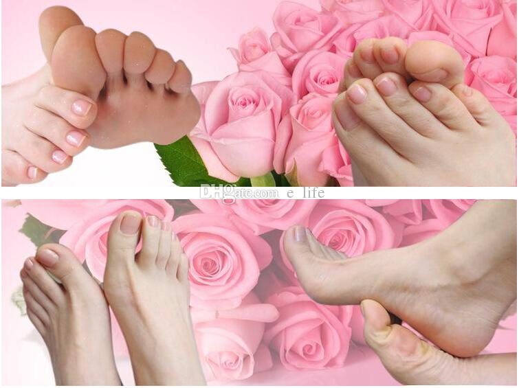 2015 New Rolanjona Milk Bamboo Vinegar Feet Mask Peeling Exfoliating Dead Skin Remove Professional Feet sox Mask Foot Care
