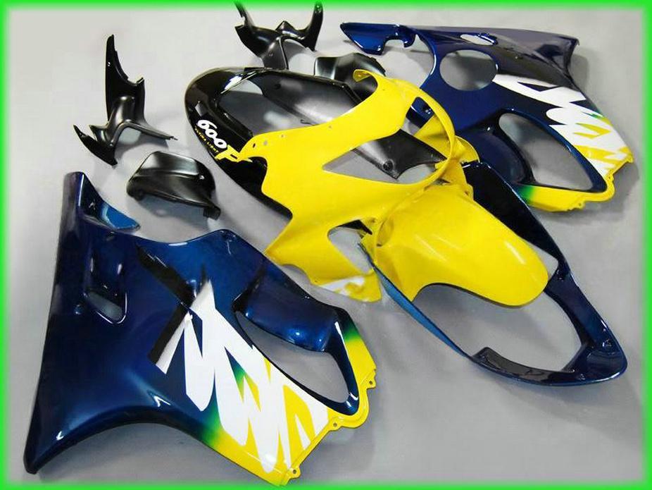 Piezas de carenado de la motocicleta de Fullset azul amarillo para Honda 99 00 CBR600 F4 kit de carrocería de recambio CBR 600 F4 1999 carenado kit + 7Regalos XIOS