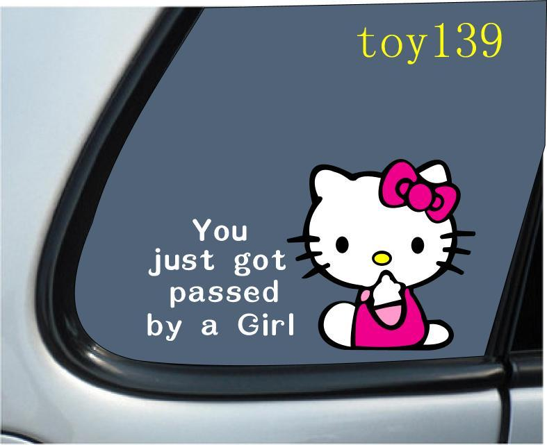 For Hello Kitty Baby On Board Vinyl Car Window Funny Decal - Funny decal stickers for cars