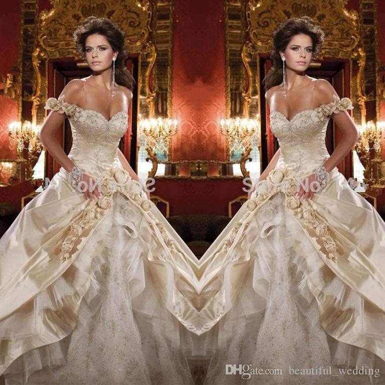 Beautiful Gold Wedding Dresses: Quinceanera Dress 2015 Sexy Vestido De Debutante Vestidos