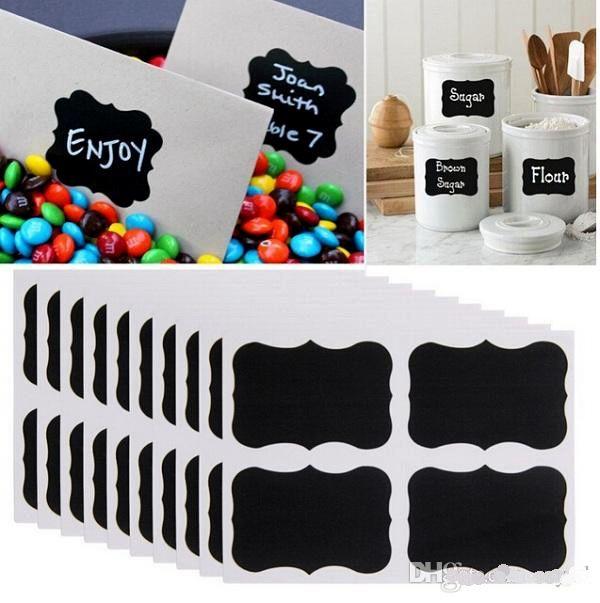 Free UPS Fedex Ship Hot Sale Blackboard Sticker Craft Kitchen Jar Organizer Labels Chalkboard Chalk Board Stickers Black