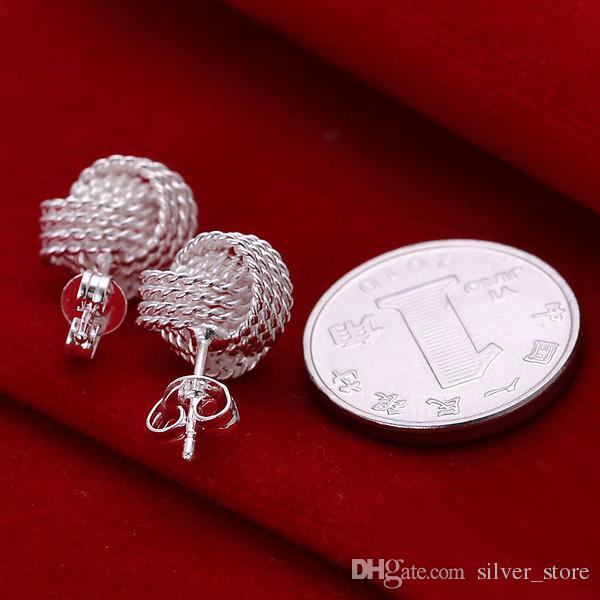 Brand new sterling silver plated Tennis earrings DFMSE013,women's 925 silver Dangle Chandelier earrings a