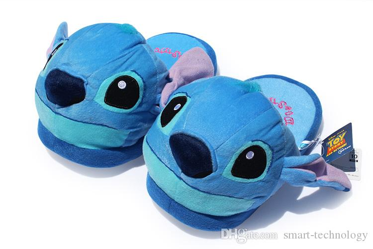 1a2427218f96 Stitch Plush Slipper Shoes Cartoon Winter Slippers Indoor Bedroom Shoes  Online with  9.72 Pair on Smart-technology s Store