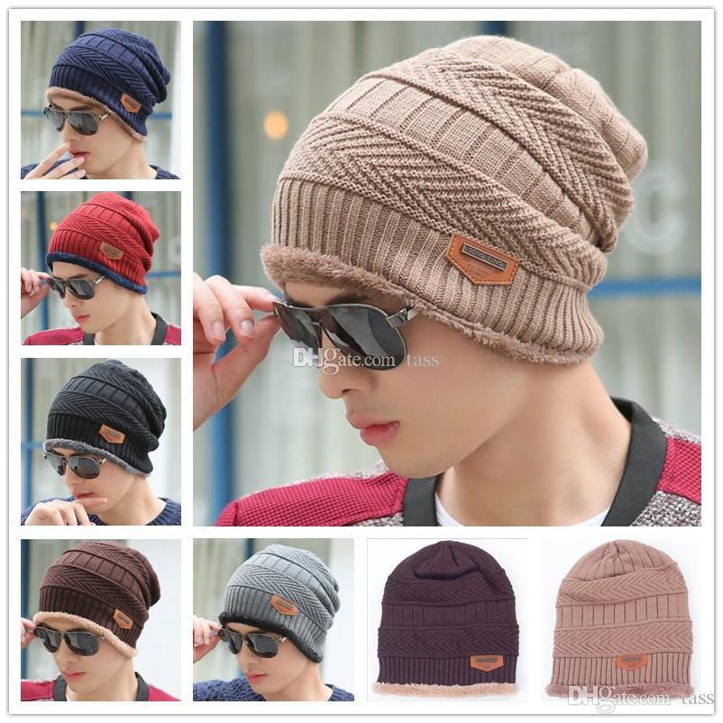 4fd305ef635 Unisex Winter Warm Hip Hop Skullies Beanie Men Women Knitted Hat ...