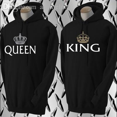 8cc61ca186 2019 King And Queen Sweatshirt Matching Couple Hoodies Boyfriend &  Girlfriend Crown Lovers Sweatshirts Whole Sale For From Apparelone, $72.78  | DHgate.Com
