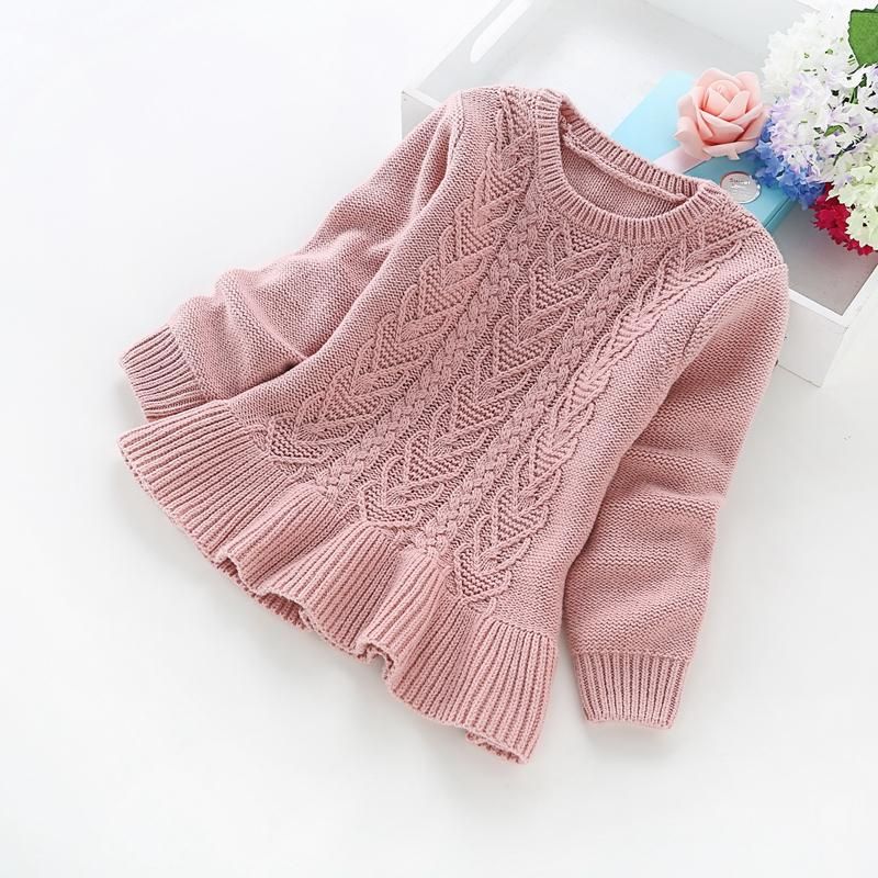 fb0412a646ab 2017 New Winter Children s Clothing 2-5 Years Girls Solid Color ...