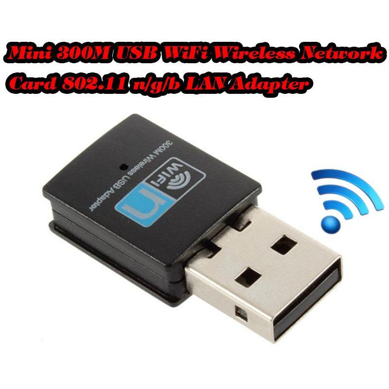 300Mbps Wireless N Wifi Repeater 300M Mini USB Lan Card Wireless WiFi Adapter Network 802.11n/G ...