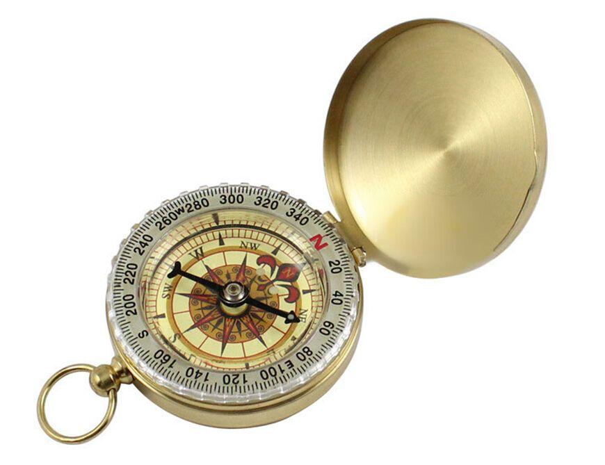 Feiner Kompass. G50 Taschenuhrkompass. Taschenkompass mit Hintergrundbeleuchtung, Anti-Messing-Kompassabdeckung, spezielle Geschenke