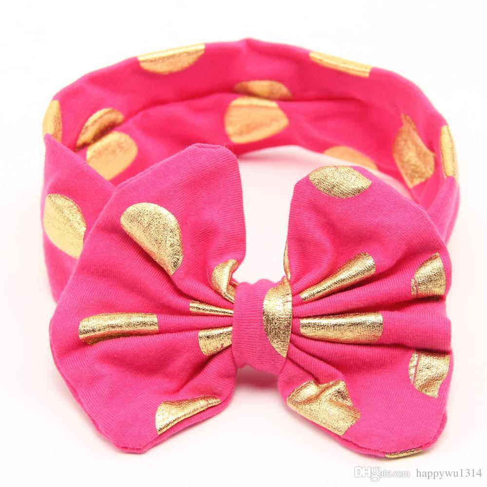 Mädchen Haarschmuck Baby Baumwolle Großen Bogen Stirnbänder Infant Kinder Brozing Bögen Turban Twist Knoten Elastische Kopf Wickeln Babys Mode Haarbänder