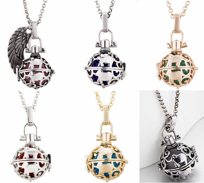 Harmonious / Harmon ball Pregnancy Ball Bola 5 colors Plating Angel Ball Copper Matal Necklaces Jewelry 24pcs Wholesale