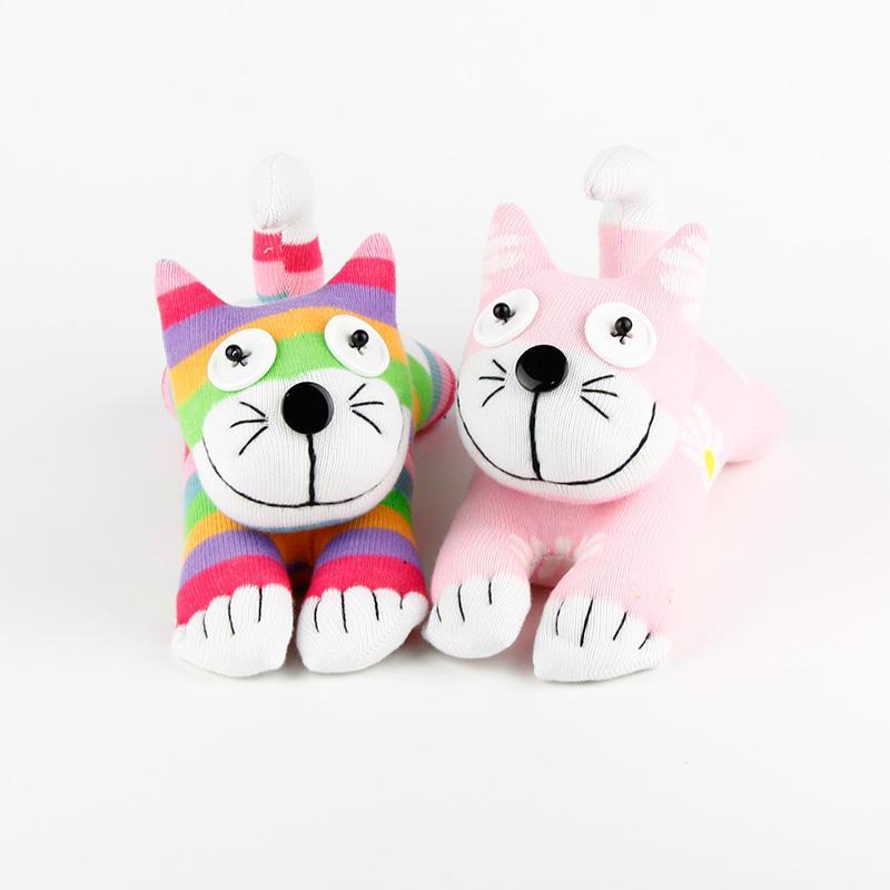 2019 Handmade Sock Monkey Baby Toys Cat Kitty 024 Stuffed Animal
