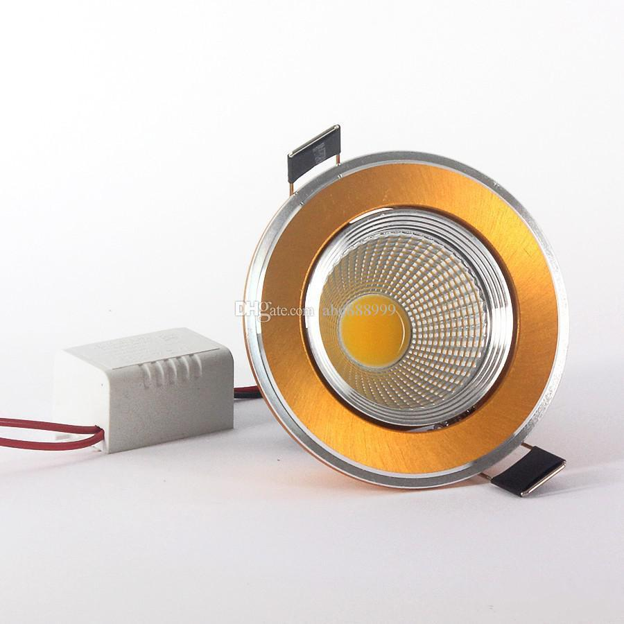 12W Dimmable Led Recessed Lights 1x12W COB Led Chip Indoor Led Downlights Warm/Pure/Cool White AC 110-240V + Power Drivers