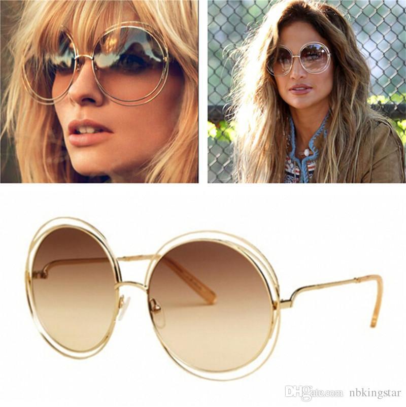 New Vintage Fashion Women Brand Designer Bicyclic Sunglasses Elegant ...