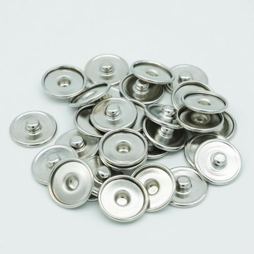 JACK88 Round Snap Press Button For Bracelet Necklace Jewelry Silver Stone Button Setting Blanks Fit 18mm Cabochon N906
