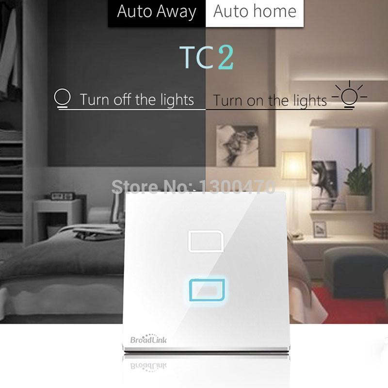 Broadlink TC2 E-Touch 2gang Smart WIFI Touch Wall Light Switch IOS ...