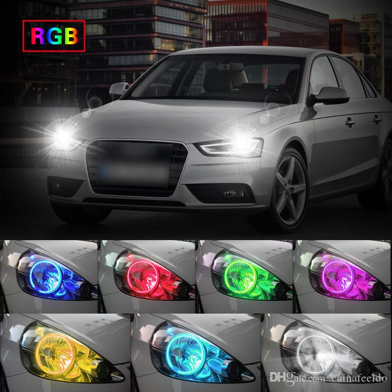 LEEWA Car RGB LED Angel Eyes Halo Ring Light Wireless Remote Control for BMW E4698-01 Vorfacelift Headlight #3200