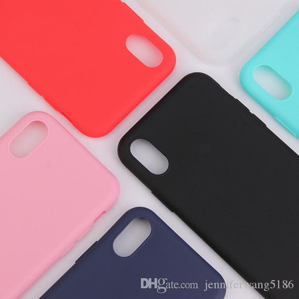 huge discount f9040 e93b2 DHL Free Shipping For iPhone X/XS/XR/XSMAX Cell Phone Cases Colorful Soft  TPU Covers Factory Wholesale Directly with Stock